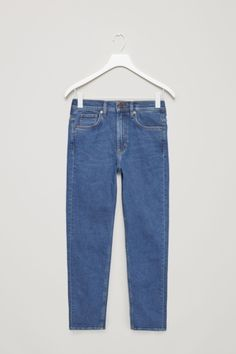 COS image 2 of Skinny-fit cropped jeans in Blue