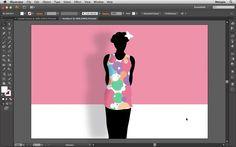 Silhoueta de figura feminina com vestido