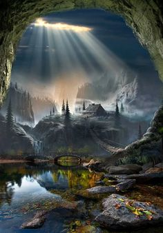 Reminds me a place right out of the Lord of Rings. Beautiful. #dream #fantasy #inspirationalimages