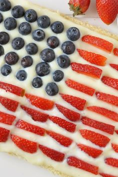 Red, White, and Blue Strawberry Shortcake