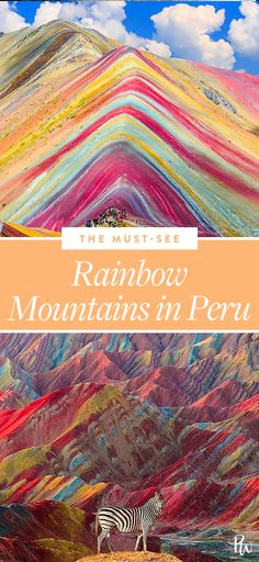 These Rainbow Mountains in Peru Look Like They're Straight Out of a Dr. Seuss Book #purewow #vacation inspiration #travel #international #vacation
