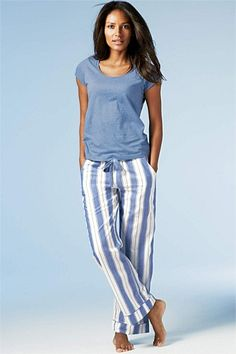 Comfy Victoria's Secret pajamas with pink plaid pants. #style ...