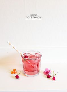 Summer Rose Punch from Valley & Co. |   Read more - http://www.stylemepretty.com/living/2013/08/02/summer-rose-punch-from-valley-co/