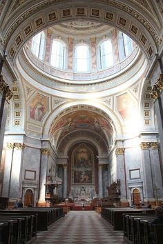 Basilica at Esztergom, Hungary Heart Of Europe, Central Europe, Place Of Worship, Budapest Hungary, Eastern Europe, European Travel, Homeland, Barcelona Cathedral, Traveling By Yourself