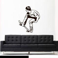 Wall Vinyl Sticker Decals Decor Art Bedroom Design Skate Skateboard Rampa Roller Skaters Board Sport Jump Street (Z3079) StickersForLife http://www.amazon.com/dp/B00NW7BB3S/ref=cm_sw_r_pi_dp_7U7fvb1WTX6TN