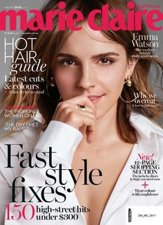DIARY OF A CLOTHESHORSE: Emma Watson covers Marie Claire Australia May 2017...