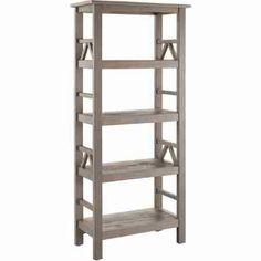 Linon Titian 4 Shelves Rustic Grey Finish Bookcase Titian…