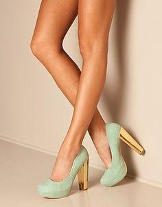 mint & gold shoes