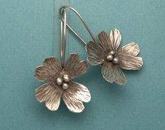 hand forged silver earrings - Google Search