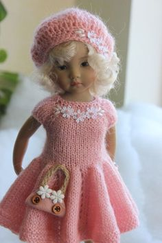 "Outfit for Dianna Effner Little Darling 13 ""+ Shoes Knitting Dolls Clothes, Crochet Doll Clothes, Knitted Dolls, Crochet Dolls, American Girl, Homemade Dolls, Sasha Doll, Cute Girl Wallpaper, Sailor Dress"