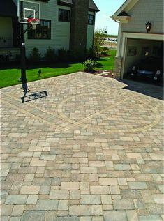 paver basketball court flickr photo sharing driveway ideasdriveway designpatio ideasbackyard