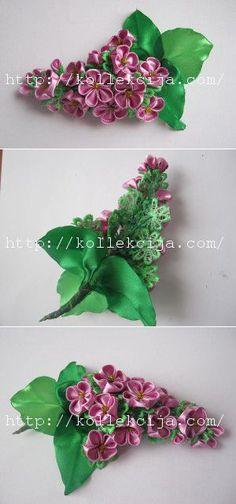 Сирень из атласных лент | Своими руками | Вышивка лентами,изготовление цветов. | Постила