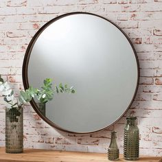 Greystroke 84cm Wall Mirror | Dunelm