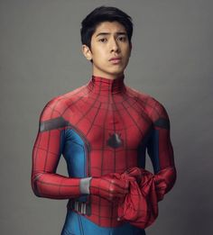 Spiderman Cosplay, Marvel Cosplay, Spiderman Pictures, One Piece Clothing, Stunt Doubles, Asian Men, Superman, Marvel Comics, Hot Guys
