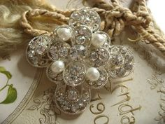 Sparkle Royal Cross Wedding Bridal Rhinestone Crystals Dress Victorian Floral Sparkling Brooch Pin from Picsity.com