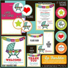 FIESTA Baby Shower // Custom Printable Party Decoration by Line117