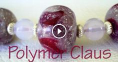 With this useful video tutorial we learn how to make beautiful beads with glass effect in polymer clay, useful for making jewelry (such as necklaces,