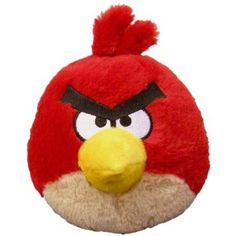 "Angry Birds 5"" Plush Red Bird with Sound (Toy)"