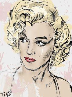 y Marilyn Monroe Art Marilyn Monroe Drawing, Marilyn Monroe Old, Marilyn Monroe Artwork, Caricatures, Best Kisses, Norma Jeane, Watercolor Sketch, Heart Art, Artist At Work