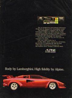 Lamborghini & Alpine Stereo Ad