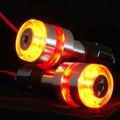 Motorcycle Handle Bar End 12V LED Turn Signal Light Lamp Amber&Red For Honda ND