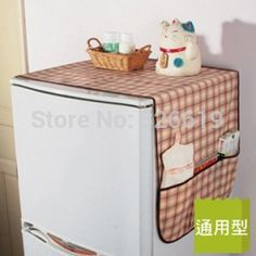 Free shipping home refrigerator dust cover storage bag universal cover towel refrigerator cover #Affiliate