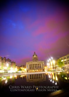 The Nottingham Council house on Market square is one of the most iconic buildings in Nottinghamshire. Of an evening you can get some truly stunning shots when the lighting is just right. You can purchase any of the artwork over at https://www.etsy.com/uk/shop/ImageryByChrisWard