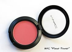 Mac ' FLEUR POWER ' peachy coral punch. apply light for a subtle punch of color