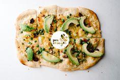 Pea and Avocado Pizza