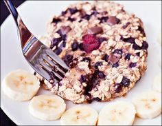 Single Serving Blueberry Oat Cake – Vegan, Gluten-Free, Sugar-Free – Baked Oatmeal