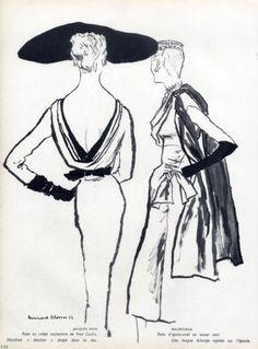 1953 Jacques Fath & Balenciga Dresses by Bernard Blossac