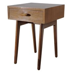 Important 1940 MOMA Organic Design Competition Bedside Table | From a unique collection of antique and modern night stands at http://www.1stdibs.com/furniture/tables/night-stands/