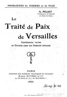 L'histoire en images: Le Lendemain de la Première Guerre Mondiale et la Conférence de paix de Paris (1919)