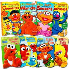 Sesame Street Ultimate Board Books Set For Kids Toddlers  Pack of 8 Board Books -- Read more reviews of the product by visiting the link on the image. Note:It is Affiliate Link to Amazon.