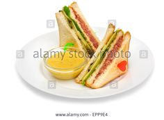 Club sandwiches Stock Photo Hot Dog Buns, Hot Dogs, Sandwich Toaster, Sandwiches, Stock Photos, Ethnic Recipes, Club, Food, Toasted Sandwich Makers