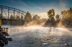 Mist on the water, Missoula MT