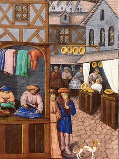les métiers moyen-âge – RechercheGoogle Medieval Houses, Medieval Clothing, Middle Ages, Miniatures, Recherche Google, Painting, Habitats, Image, Landscapes