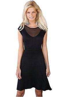 Платье - http://www.quelle.ru/New_arrivals/Women_fashion/Women_dresses/Daily_dresses/Plate__r1214054_m289188.html?anid=pinterest&utm_source=pinterest_board&utm_medium=smm_jami&utm_campaign=board1&utm_term=pin37_14032014 Очаровательное платье с расклешенной юбкой и вставками из сеточки. #quelle #dress #black #small #trend #style