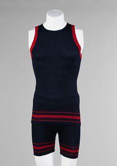 Beachwear (Bathing Suit)  Rogers, Peet & Company (American, founded 1874)  Date: 1920–29 Culture: American Medium: wool