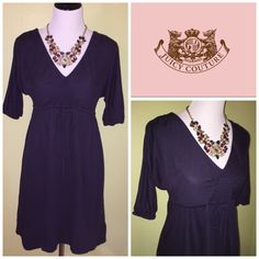 Juicy couture navy 3/4th sleeve dress EUC and super comfy! Juicy Couture Dresses