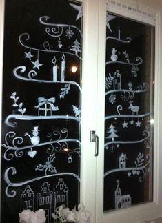 Bekijk de foto van Helemaalmooi met als titel Windowpainting Christmas tree  en andere inspirerende plaatjes op Welke.nl.