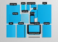 Stationary Branding Mock Up (Volume I) by Santiago Moreno, via Behance