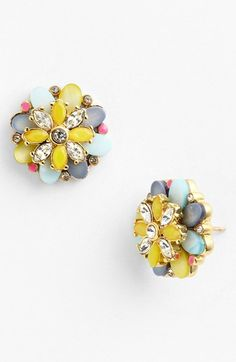 kate spade new york 'bungalow bouquet' stud earrings Jewelry Box, Jewelery, Jewelry Watches, Jewelry Accessories, Fashion Accessories, Fashion Jewelry, Gold Jewellery, Kitsch, Bijou Box
