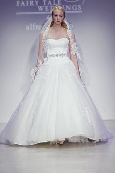 Disney Fairytale Weddings, CINDERELLA 3, and lace veil from The Bride's Shoppe, Great Falls, MT