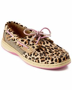 Cute!  Leopard print Sperry boat shoes!  On sale for $55.90! http://rstyle.me/n/egesenyg6