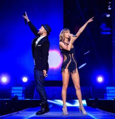 Singer-songwriters Taylor Swift and Justin Timberlake perform onstage during Taylor Swift The 1989 World Tour Live In Los Angeles at Staples Center on August 26, 2015 in Los Angeles, California.