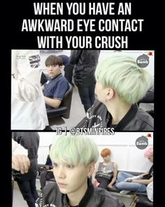 My crush don't look at me cause he don't know I exist (taetae is my crush)