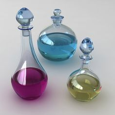 3d magic potions bottles - Magic potions... by randomize
