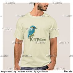 Kingfisher King Twitcher Birdwatcher mens t-shirt