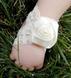 Baby girl baptism sandals white lace baptism shoes by SadieSandals